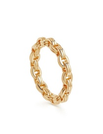 Fashion Number 8 Ultra-fine Chain Hollow Geometric Alloy Ring