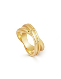 Fashion Number 8 Alloy Spiral Cross X-shaped Gold-plated Ring