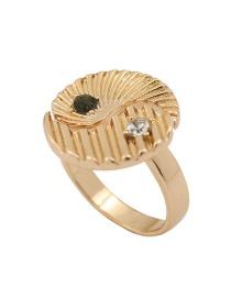 Fashion Number 8 Yin Yang Eight Diagrams Tai Chi Men S Titanium Steel Ring