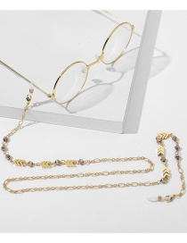 Fashion Gold Color Oval Bead Pointed Anti-lost Silicone Anti-skid Glasses Chain