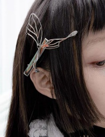 Silver Color Butterfly Alloy Hollow Hair Clip