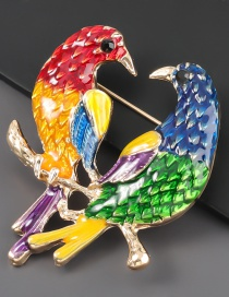 A Pair Of Birds A Pair Of Alloy Bird Brooches