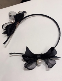 Fashion Bow On Both Sides Mesh Bow Fine Lace Headband