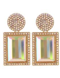 Fashion Ab Drill Diamond-studded Geometric Alloy Stud Earrings