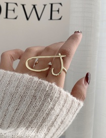 Fashion Gold Color Alloy Hollow Love Two Finger Ring