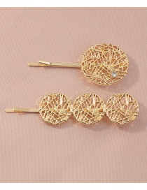 Fashion Mesh Round Heart-shaped Pearl Resin Alloy Flower Hairpin