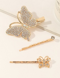 Fashion Suit Diamond Butterfly Alloy Hair Clip Set