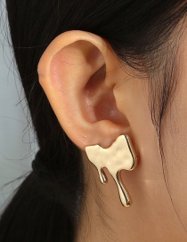 Fashion Gold Color Tears Irregular Alloy Earrings