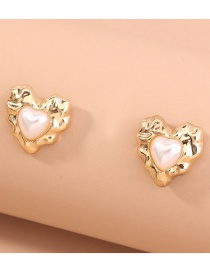 Fashion Gold Color Love Geometry Alloy Earrings