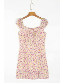 Fashion Photo Color Sleeveless Dress With Lace Floral Print