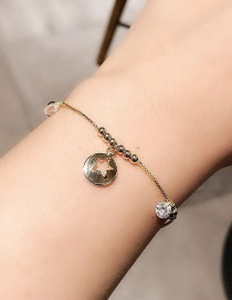 Fashion Gold Color Micro-inlaid Zircon Hollow Star Tag Bracelet