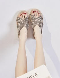 Fashion Light Brown Platform Fisherman Shoes With Cross-strap Open-toe Twine Elastic Band