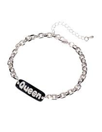 Fashion Queen Bracelet Pig Nose Diamond English Alphabet Pendant Bracelet