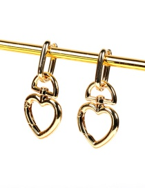 Fashion Earring Thick Chain Love Buckle Earrings