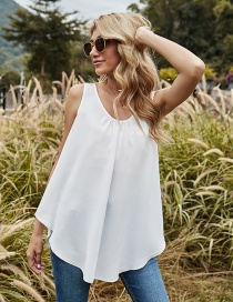 Fashion Off-white Hollow Back Lace Camisole