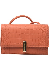 Fashion Orange Crossbody Square Shoulder Bag