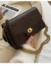 Fashion Brown Chain Crossbody Shoulder Bag