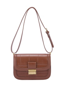 Fashion Coffee Color Crossbody Textured Shoulder Bag