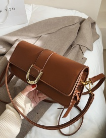 Fashion Brown Underarm Crossbody Shoulder Bag