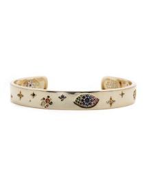 Fashion Gold Color Bracelet Yh Micro Inlaid Zircon Star Demon Eye Palm Bracelet