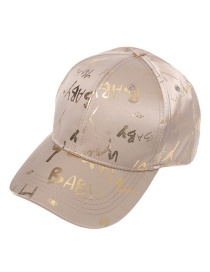 Fashion Champagne Colorful Letter Cap