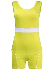 Fashion Fluorescent Color Sling Knitted Jumpsuit