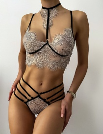 Fashion Gray Three-point Perspective Pure Erotic Fun Lace Suit