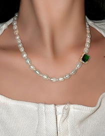 Fashion Green Necklace Pearl Necklace