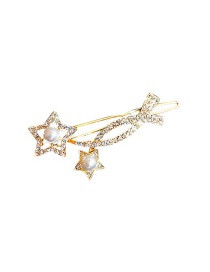 Fashion Five-pointed Star Hairpin Zircon Flower Five-pointed Star Hairpin