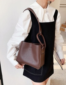 Fashion Brown Textured One-shoulder Armpit Bag