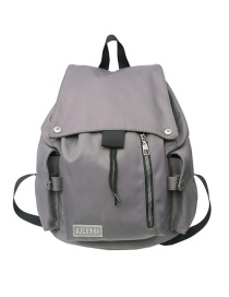 Fashion Gray Large Capacity Backpack