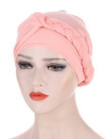 Fashion Snow Bud Side Braid Multicolor Chemotherapy Cap