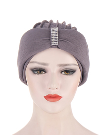 Fashion Dark Gray Three-dimensional Sponge Edging Multicolor Toe Cap With Sequins In The Middle Of The Forehead