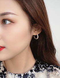 Fashion Gold Color Thin Gold C-shaped Earrings