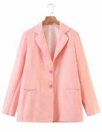 Fashion Pink Oversized Candy Color Suit