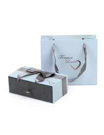 Fashion Light Blue Bow Packing Box
