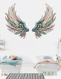 Fashion 42*58cm*2 Pieces Colorful Feather Wall Sticker