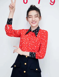 Fashion Red Five-pointed Star Shirt