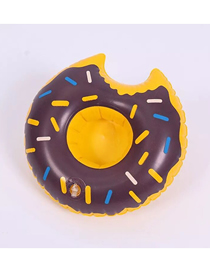 Fashion Donut Cup Holder Coffee Color Pvc Inflatable Bread Beverage Cup Holder