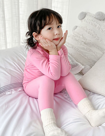 Fashion Powder Cotton Tight-fitting Bottoming Childrens Warm Clothing