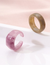 Fashion Couple Suit Resin Geometric Acrylic Ring