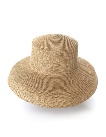 Fashion Khaki Straw Hat