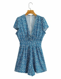 Fashion Blue Printed Jumpsuit