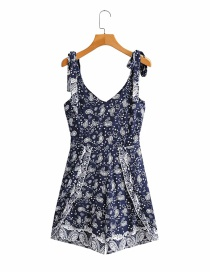 Fashion Navy Printed Jumpsuit