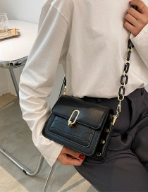 Fashion Black Acrylic Chain Shoulder Messenger Bag