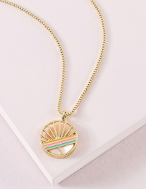 Fashion Golden Color Dripping Necklace