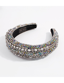 Fashion White K Claw Chain Diamond-studded Sponge Headband