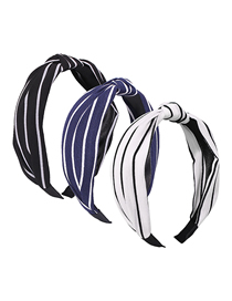 Fashion 3 Stripes Fabric Knotted Headband