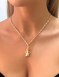 Fashion Golden Geometric Alloy Chain Necklace