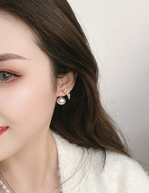 Fashion Gold Color Golden Leaf Bead Earrings